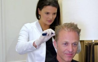 New Hair Clinic patient check after hair transplant