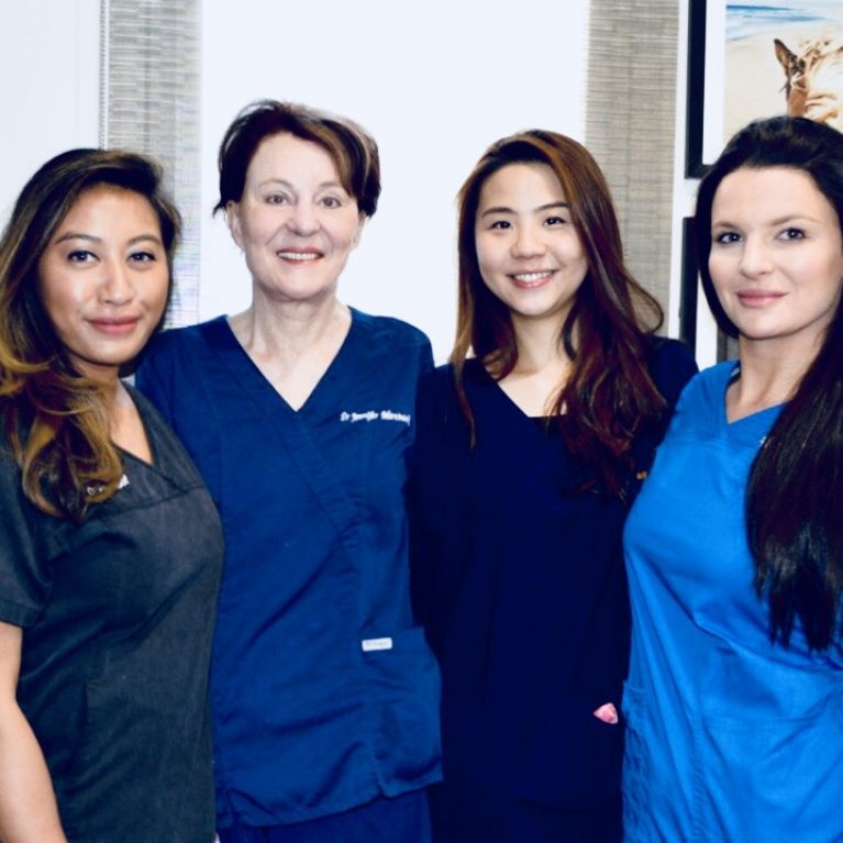New Hair Clinic Dr Jennifer Martinick and Dr Sara Kotai with Dr Xin Chua Dr Aliaa Yusof_22022018-2004